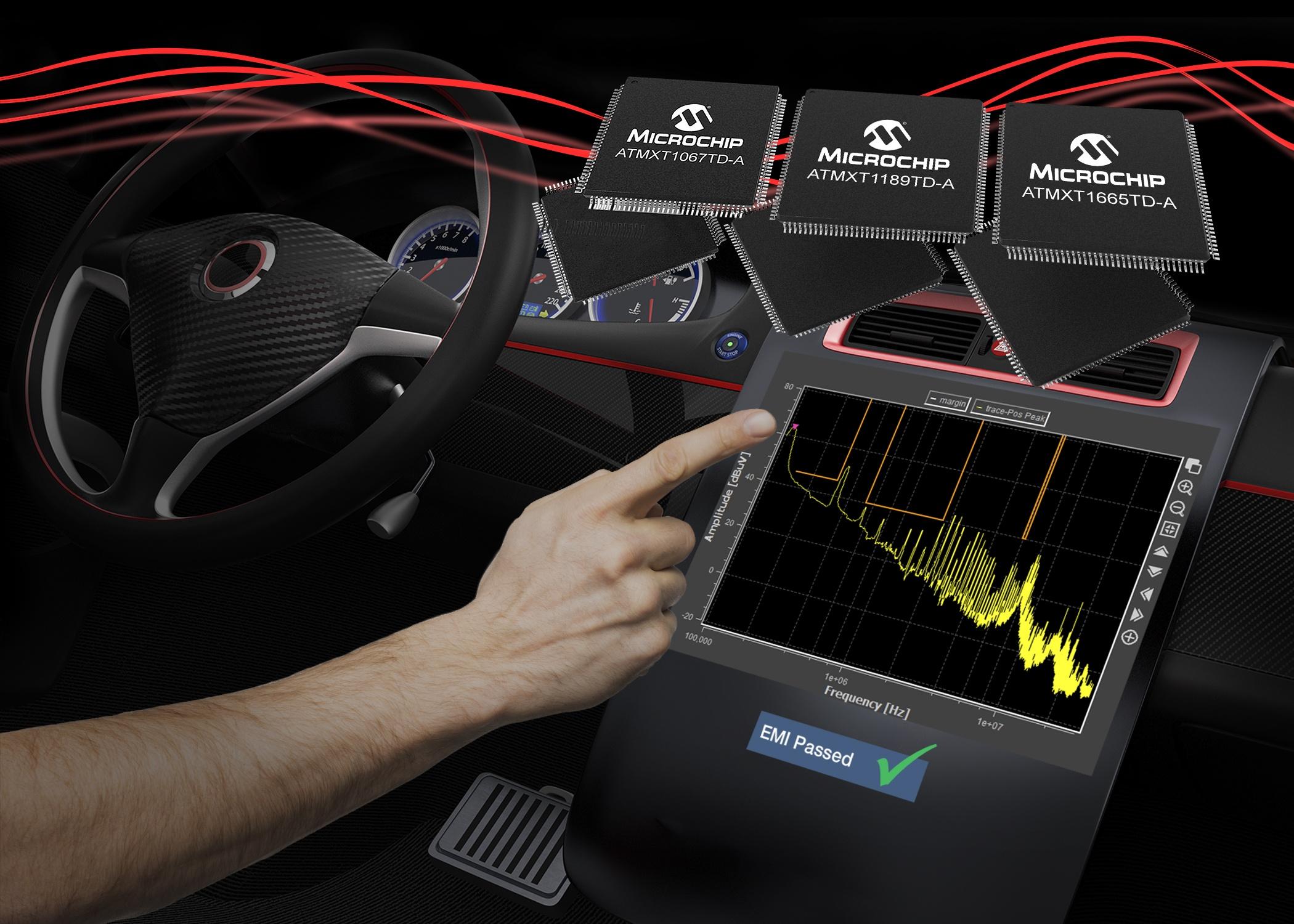 利用新型電容式觸摸控制器加速汽車觸摸屏的EMI認證