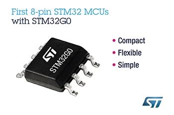 意法半導體通過首批8引腳STM32微控制器為簡單應用帶來32位MCU的可能性
